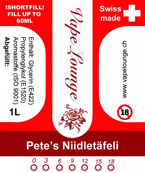 Pete's Niidletäfeli 1 Liter