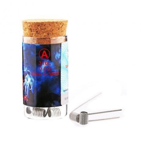 Demon Killer Fused Clapton Flame Coil SS316L 0.5 Ohm 6pcs