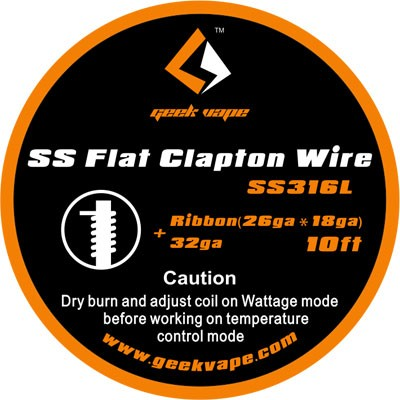 GeekVape Draht SS316L Flat Clapton 32GA