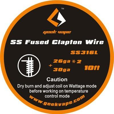 GeekVape Draht SS316L Fused Clapton 26GA
