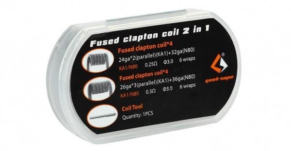 GeekVape Fertig Coils N80 / KA1 Fused Clapton (4x 0.25Ohm / 4x 0.3Ohm)