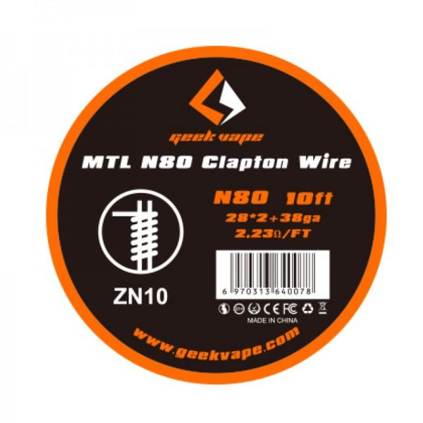 GeekVape Draht MTL N80 Clapton