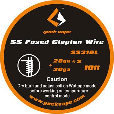 GeekVape Draht SS316L Fused Clapton 28GA