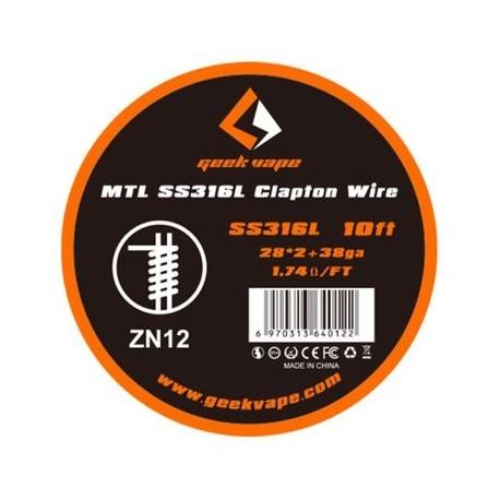 GeekVape Draht MTL SS316 Clapton